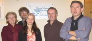 Club de la presse d Rennes et de Bretagne. Audrey Guiller Présidente, Raymond Paulet Vice-président.